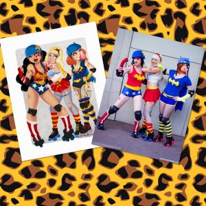 DC Roller Girls Cosplay Group