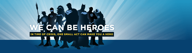 We Can Be Heroes event for Armani